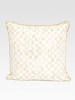 MacKenzie-Childs - Parchment Check Pillow