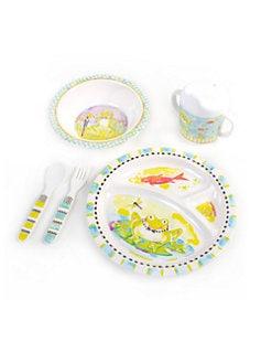 MacKenzie-Childs - Frog Toddler Four-Piece Dinnerware Set