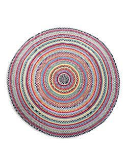 MacKenzie-Childs - Crayon Round Braided Rug