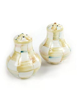 MacKenzie-Childs - Parchment Check Salt & Pepper Shakers
