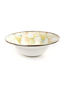 MacKenzie-Childs - Parchment Check Breakfast Bowl