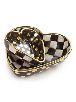 MacKenzie-Childs - Courtly Check Heart Bowl