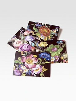 MacKenzie-Childs - Flower Market Placemats/Black, Set of 4