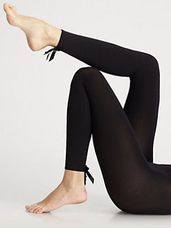 Wolford - Jabot Satin Bow Leggings