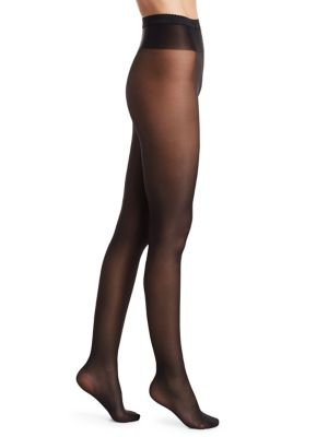 Neon Sami-Sheer Pantyhose in Black