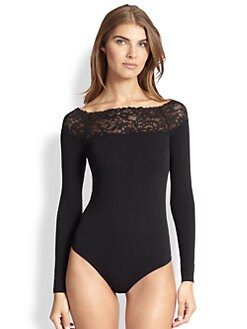 Wolford - Flore Lace-Trimmed Bodysuit