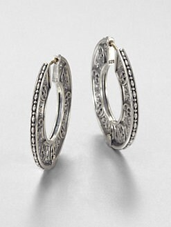 Konstantino - Sterling Silver Disc Hoop Earrings