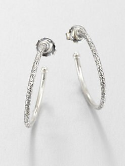 Konstantino - Engraved Sterling Silver Hoop Earrings