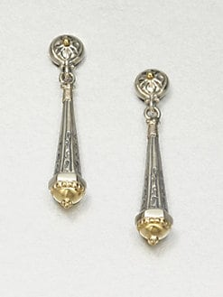 Konstantino - Sterling Silver & 18K Gold Drop Earrings