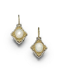 Konstantino - Mother-Of-Pearl, 18K Gold & Sterling Silver Cross Drop Earrings