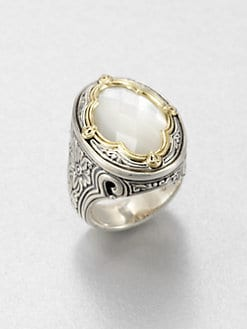 Konstantino - Mother-Of-Pearl, 18K Gold & Sterling Silver Ring