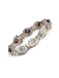 Konstantino - Cognac Quartz, Citrine and Sterling Silver Bracelet