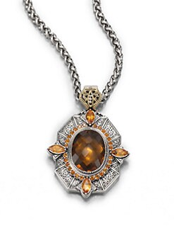 Konstantino - Cognac Quartz, Citrine, Sterling Silver and 18K Yellow Gold Enhancer
