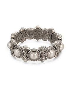 Konstantino - Cultured Pearl and Sterling Silver Bracelet