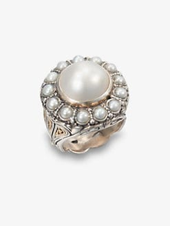 Konstantino - Cultured Pearl, Sterling Silver and 18K Yellow Gold Ring