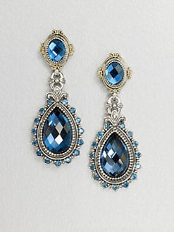 Konstantino - Semi-Precious Multi-Stone Sterling Silver & 18K Gold Teardrop Earrings
