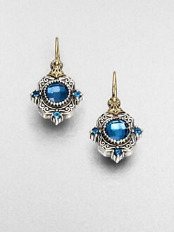 Konstantino - Semi-Precious Multi-Stone Sterling Silver & 18K Gold Drop Earrings