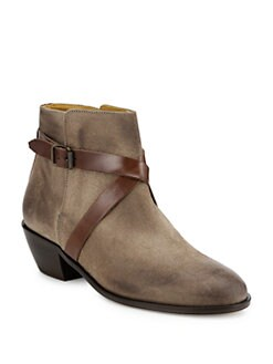 10022-SHOE Saks Fifth Avenue - Criss Cross Ankle Boots