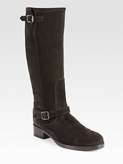 10022-SHOE Saks Fifth Avenue - San Francisco Suede Knee-High Boots