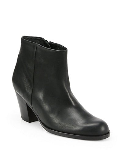 Dayna Clean Leather Ankle Boots