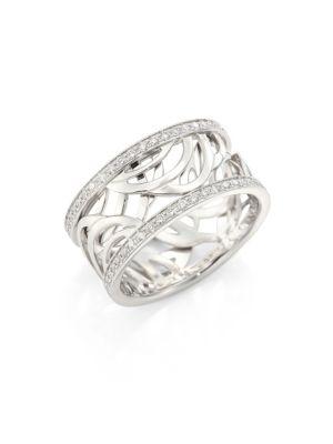 Aria Diamond & 18K White Gold Band Ring