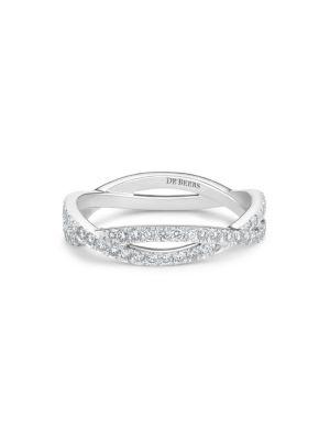 Infinity Diamond & 18K White Gold Full Band Ring