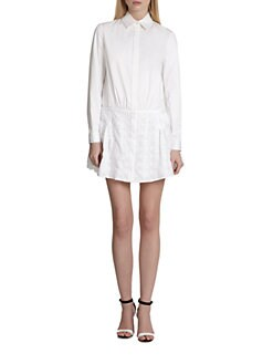 Thakoon - Eyelet-Skirt Shirtdress