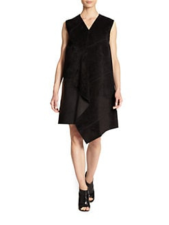 Derek Lam - Suede-Drape Dress
