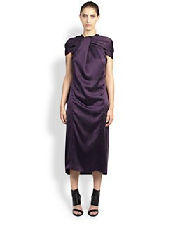 Haider Ackermann - Dali Silk Cape Dress