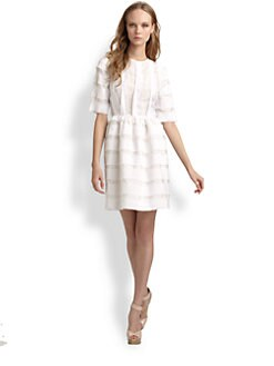 Peter Som - Cotton Voile Three-Quarter Sleeve Dress