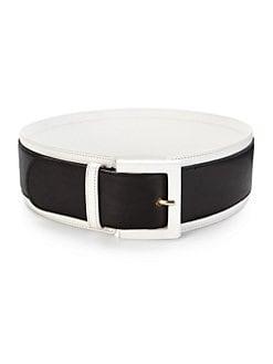 Derek Lam - Contrast-Trim Leather Belt