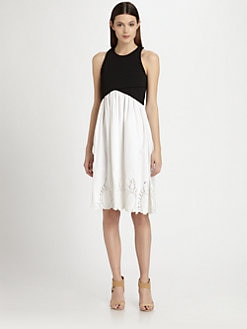 Thakoon - Embroidered Cross-Front Dress