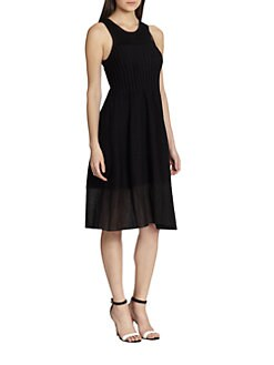Thakoon - Pintucked Flare Dress
