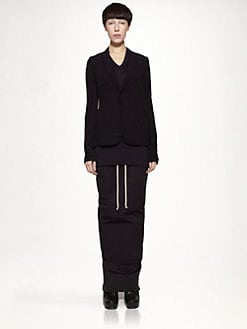 Rick Owens - Silk Georgette & Wool Blazer