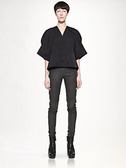 Rick Owens - Techno Faille Cropped Jacket