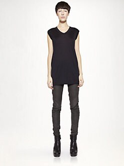 Rick Owens - Silk Jersey Tunic Top