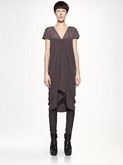Rick Owens - Athena Satin & Georgette Dress