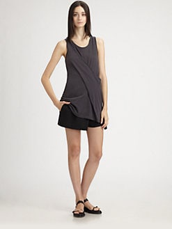 Ann Demeulemeester - Draped Cotton Tunic Tank