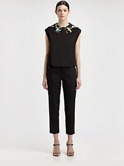 Thakoon - Bird Embroidery Top