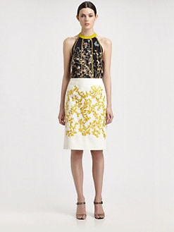 Thakoon - Silk Birdcage Print Top