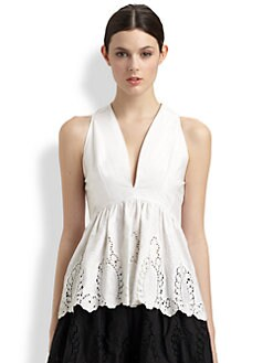 Thakoon - Lace Peplum Top