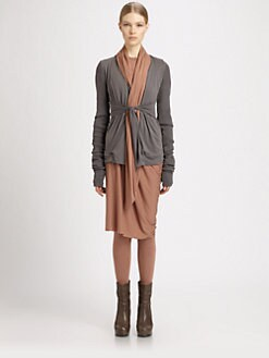Rick Owens Lilies - Draped Contrast Lapel Jacket