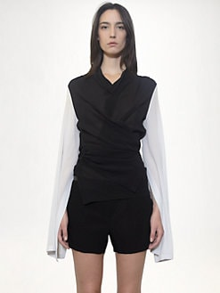 Ann Demeulemeester - Silk Wrap Top
