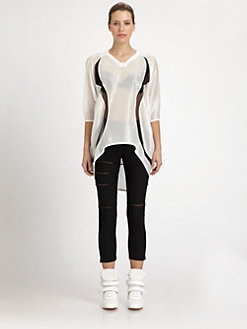 Junya Watanabe - Mesh Inset Blouse
