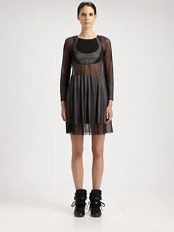 Junya Watanabe - Mesh & Silk Jersey Dress