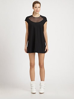 Junya Watanabe - Mesh Inset Mini Dress