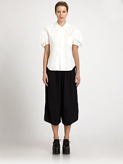 Comme Comme - Garment-Washed Blouse