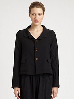 Comme Comme - Garment-Treated Collared Jacket