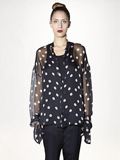 Haider Ackermann - Silk Polka Dot Blouse
