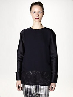 Haider Ackermann - Lace-Trimmed Silk Top